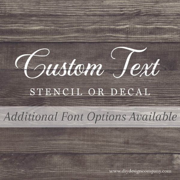 Custom Text with font options
