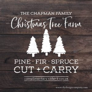Personalized Christmas tree farm design