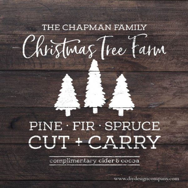 Personalized Christmas tree farm design