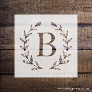 DIY Design Company personalized monogram vinyl stencil or decal
