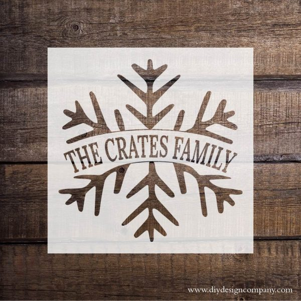 DIY Design Company Personalized Snowflake vinyl stencil or vinyl decal