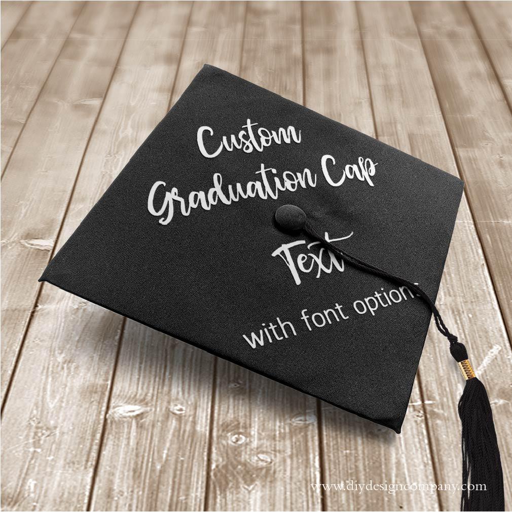 Grad Cap_Custom Text_Website