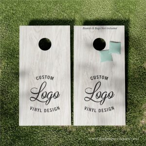 Custom logo or design on cornhole boards