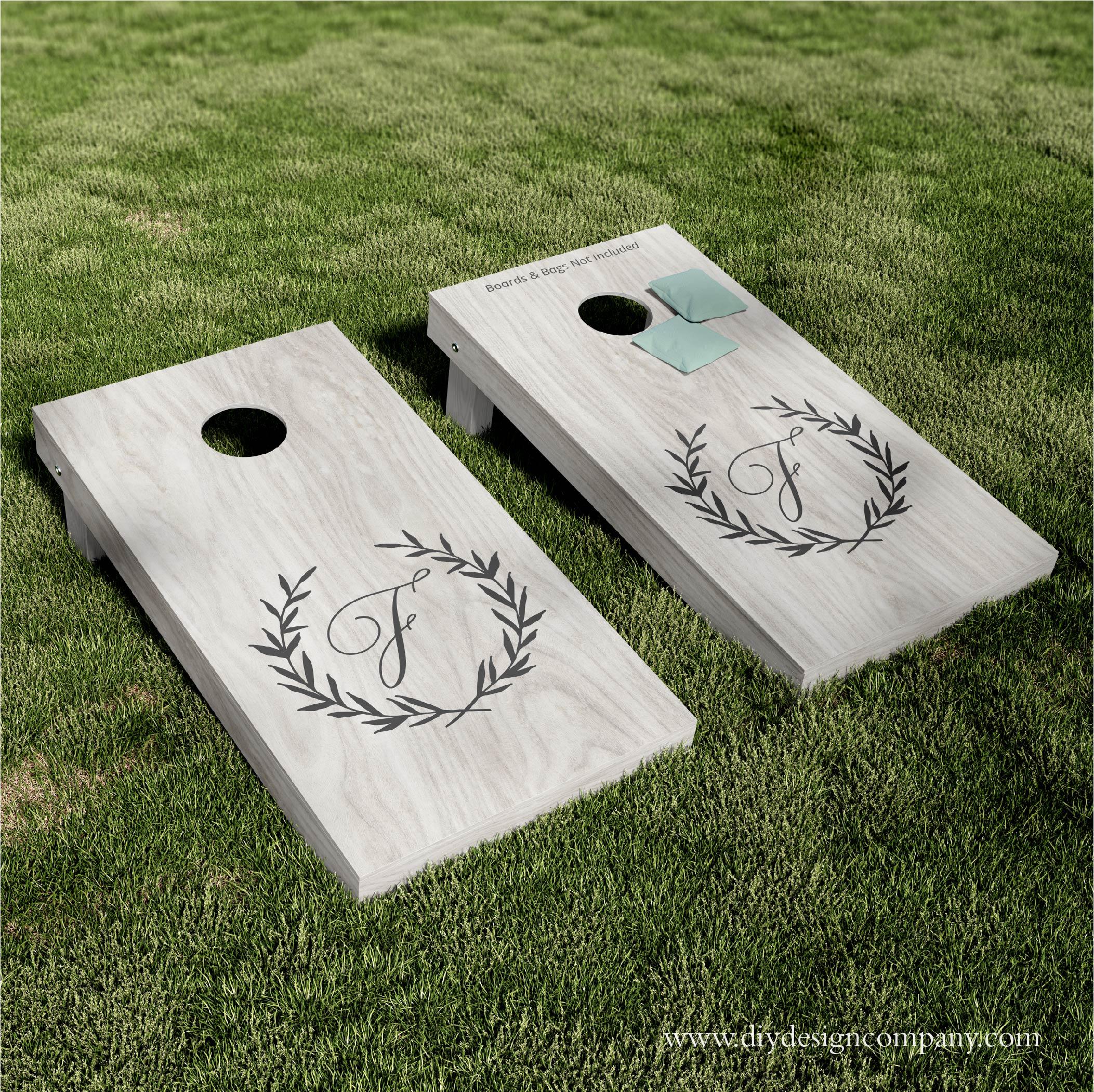 Cornhole Boards_Elegance Wreath_Website