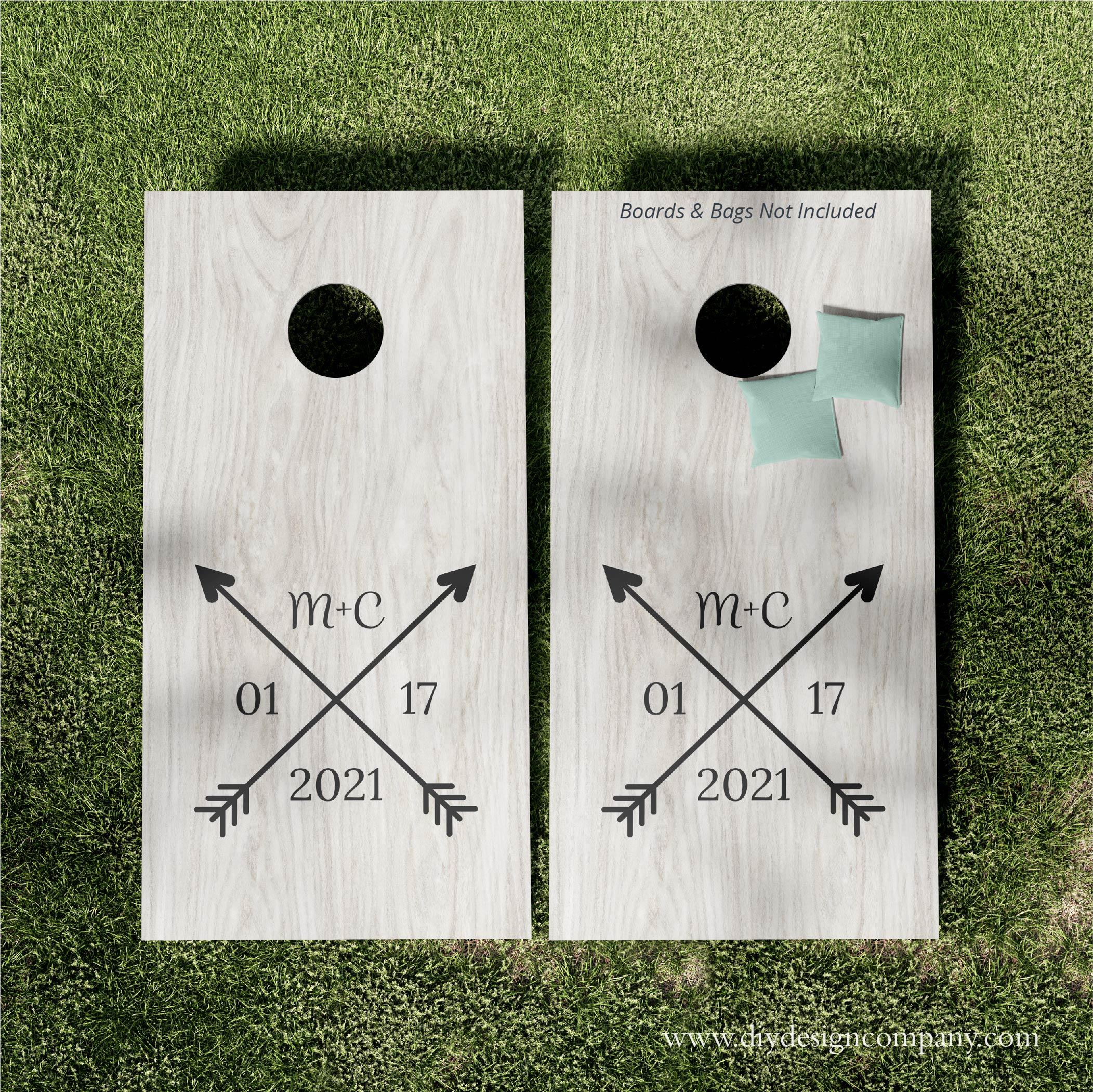 Cornhole Boards_Wedding Arrows_Website
