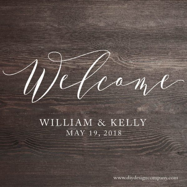 Welcome with names and date