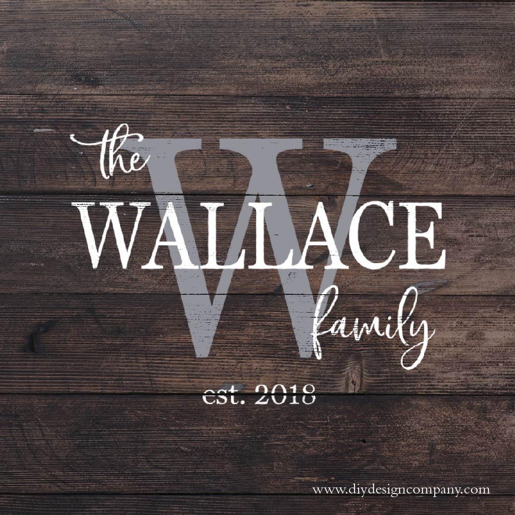 Monogram Family Name Design + Date_Website