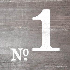 Vintage number design