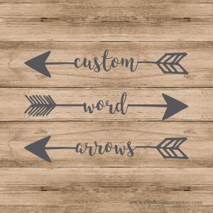 Three arrows with custom words