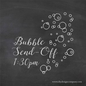Bubble send off with custom time and floating bubbles