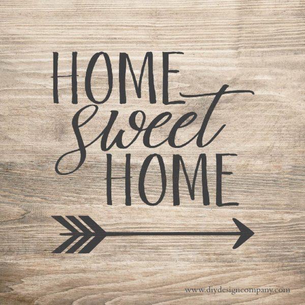 Home Sweet Home with arrow